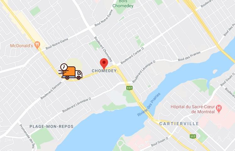 Image Map Chomedey Qc